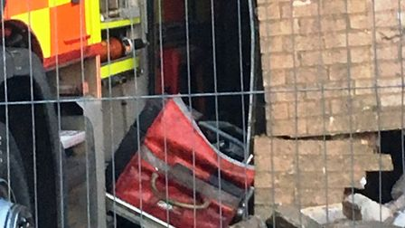 Investigations are still on-going into how a large part of Manea fire station collapsed on to the pu