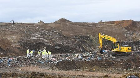 The search underway for missing RAF gunner Corrie McKeague at the Milton Landfill site in Cambridges