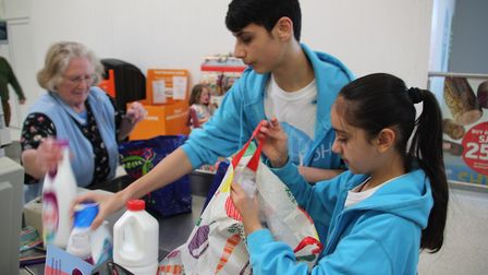 Some of the young people who use Centre E (the Youth Hub) in Ely were in Sainsbury's on Saturday rai