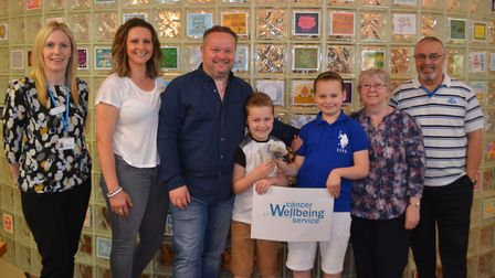 The Almond family, who raised £1,065 for the Cancer & Wellbeing Service at the Robert Horrell Macmil