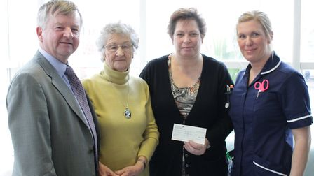 Welney family donates more than £2,000 to hospital in memory of well-known farmer Stanley Goodger. P