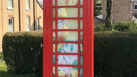 A phonebox in Prickwillow was given an Easter makeover by pupils from the Isle of Ely Primary School