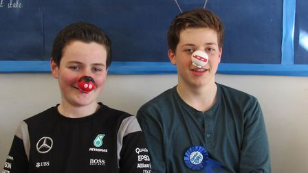 Children at Cromwell Community College in Chatteris raise more than £1,000 for Comic Relief on Red N