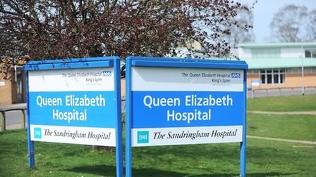 A 57-year-old woman has been arrested after she was found in the grounds of the Queen Elizabeth Hosp