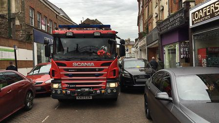 Cambridgeshire Fire & Rescue service shared this photo to try and warm inconsiderate parkers the eff