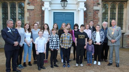 All the finalists in the annual Art Reach competition run by Policing East Cambs pictured with the m