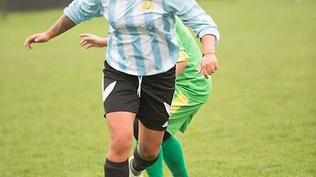 Adele Munday hit one of March Town's goals in their 4-2 defeat to Swineshead last weekend. PHOTO: Jo