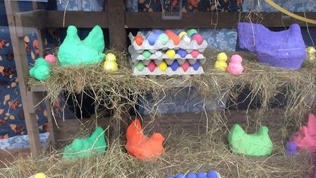 Winner of Town Team's 'Best Dressed Easter Window' at Littleport was Branching Out charity shop.
