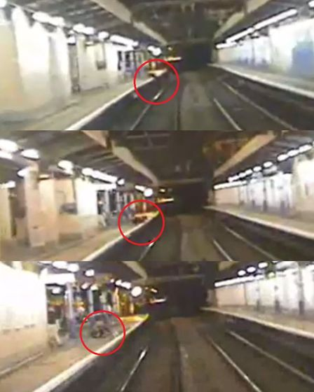 Sequence showing a young person trespassing on the line at a station in Cambridgeshire PHOTO: Networ