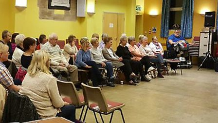 March Can't Sing Choir's first 'end of term' social evening is a success. PHOTO: Tracy Larham.