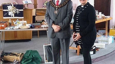 Mayor Councillor Andrew Donnelly opens a table top sale at Trinity Church in March