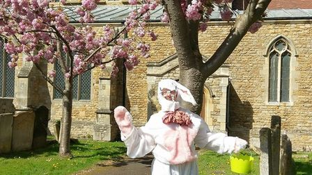 The Easter Bunny helped Chatteris in Bloom raise £100 over the Easter period.