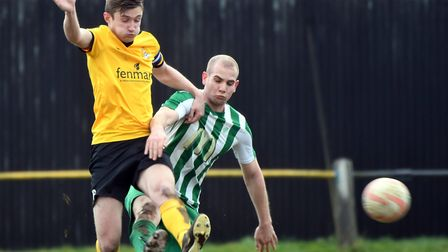 Max Mattless scored a superb leveller as March Town drew 1-1 with Stowmarket Town last Saturday. PHO
