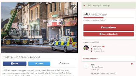 """A fundraising page set up to show community support to the """"lovely, hard-working family"""" that runs C"""