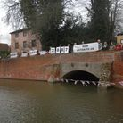 Campaigners staging a protest on Finchingfield bridge