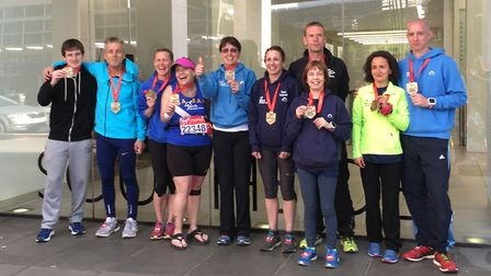 The group of March AC runners that tackled the 2017 London Marathon.