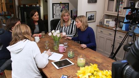 Victoria Derbyshire and editor Louisa Compton interview reporter Kath Sansom, Clarie Cooper and Kate