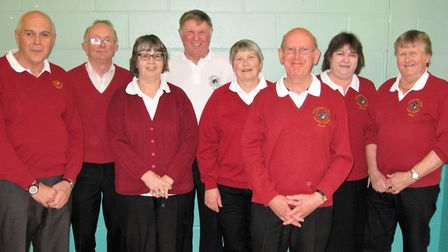 East Cambs Carpet Bowls Association League Knock-Out Cup winners, Littleport Village Hall. From the