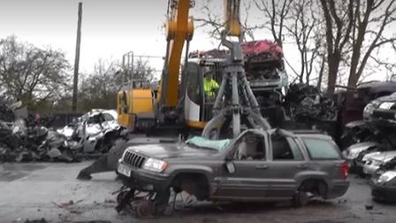 Cambridgeshire Constabulary have released a video showing what could happen to the cars of people ca