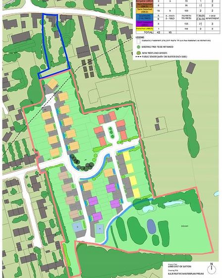 Up to 60 homes could be built on land to the east of Sutton - as long as 31 Great Crested Newts can