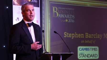 2016 Fenland Business Awards at March Braza. NE Cambs MP Steve Barclay