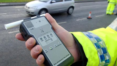 A breathalyser used by police on suspected drink-drivers. (Stock image). Picture: JOHN GILES