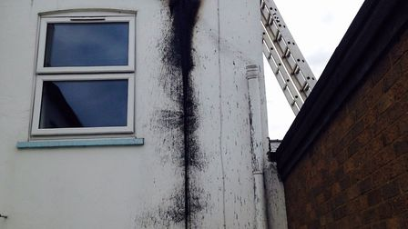 Fire damage to Broad Street shops and flat complex. PHOTO: Ben Jolley