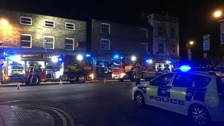 Fire crews were called to a flat fire above Greetings card shop in Broad Street, March. No one was h