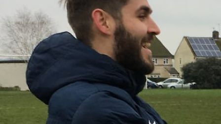 Whittlesey Athletic Reserves manager, Max Flintoft.