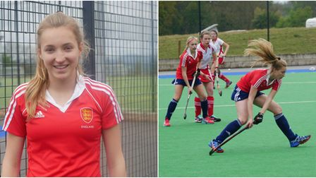 King's Ely's Rebecca Daniel starred for England Under 16s in their wins over Ulster Under 17s. PHOTO