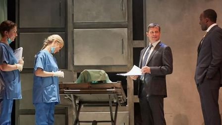 Laura Whitmore and Bill Ward star in thrilling 'Not Dead Enough' at Cambridge Arts Theatre.
