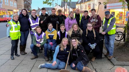 Members of the March Young Farmers group completed a Countryside Challenge by gardening along March