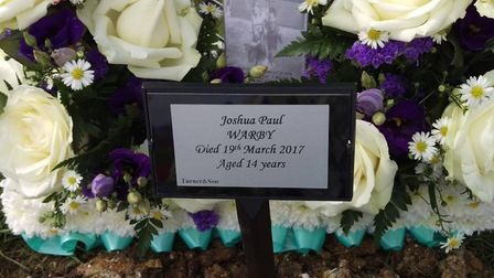 A family is distraught after the theft of this plaque for Joshua Warby was stolen on Tuesday May 9 f
