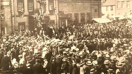 Ely Museum post picture from May 12 1910 on their Facebook page - it is about the proclamation of Ge