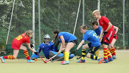 Action from Ely City Hockey Club's annual tournament.