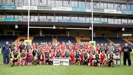 46 rugby players - seven from March Bears - helped raise £40,000 for two charities and broke a world