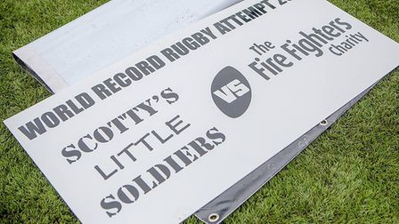 The rugby marathon helped raise £40,000 for the Fire Fighters Charity and Scotty's Little Soldiers.