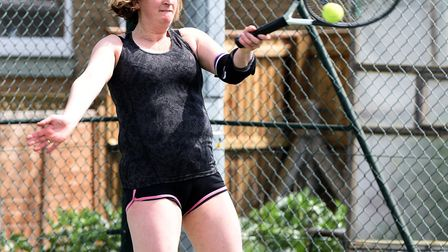 Action from Chatteris St Peters Tennis Club;s Great British Tennis Weekend. PHOTO: Ian Carter