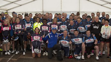 More than 100 people took part in the ITFC Tour of Suffolk cycle ride which set off from Portman Roa