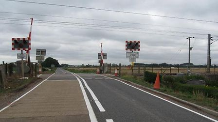 Dimmocks Coite Crossing near Ely and the scene of today's fatality. PHOTO: Network Rail