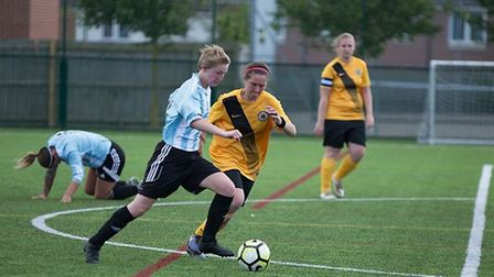Georgia Brown netted a fine goal against Boston United - but couldn't prevent them falling to a 3-1