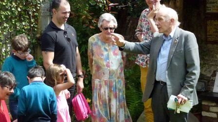 Peter Clayton, chairman of the Octavia Hill Birthplace Museum Trust (right) with Betty Burgess, the