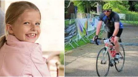 Wayne Prigg (right) is to cycle 100 miles to raise money for a charity that has helped his eight-yea