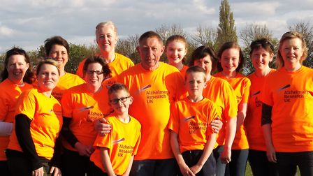 Wicken family, led by retired butcher Bob, raise £1,200 for Alzheimer's Research UK with 22-mile spo