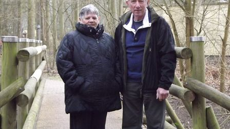 Bob Tyler was inspired to organise the walk because of his wife, Christine, who was diagnosed with e