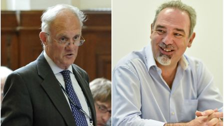 Scrutiny chairman Fred Yeulett (FDC) tackles LEP chairman Mark Reeve