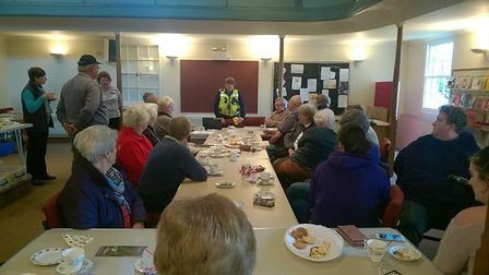 PCSO Annie Austin told her audience of recent burglaries – including some from houses- that have aff