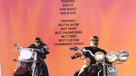 Bevan and Dave's bike show raising funds for MAGPAS. It is being held at the Conservative Club in Ch