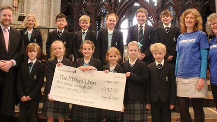 King's Ely Junior raised £392 for the Mothers' Union by swapping their phones for books.