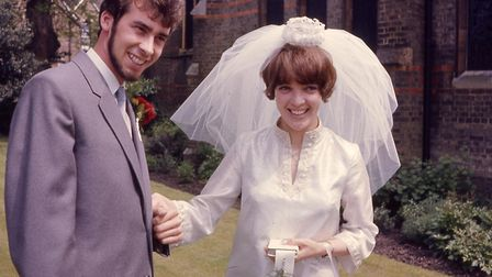 Stuart Newman and Susan Cleave on their wedding day 50 years ago PHOTO: Stuart Newman